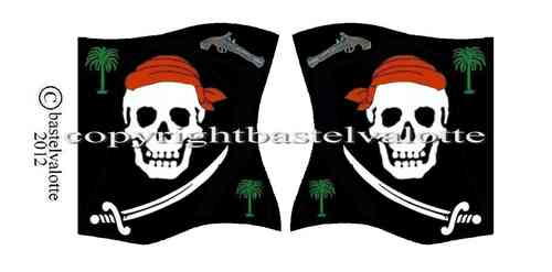 Piratenflaggen Set 004