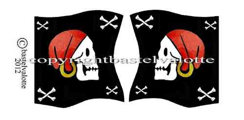 Piratenflaggen Set 009