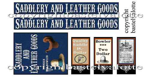 Westernhaus - Saddlery and Leather Goods  - Aufkleber Vinyl