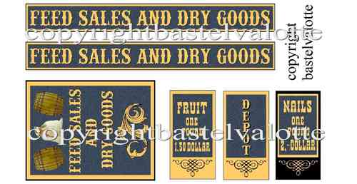 Westernhaus - Feed Sales and Dry Goods  - Aufkleber Vinyl