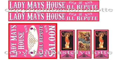 Westernhaus - LADY MAY'S HOUSE OF ILL REPUTE  - Aufkleber Vinyl